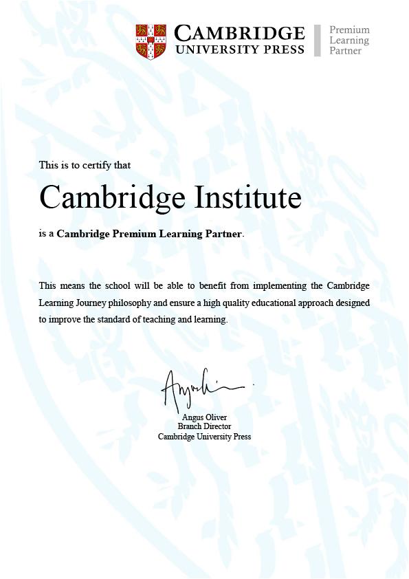 Cambridge Premium Learning Partner