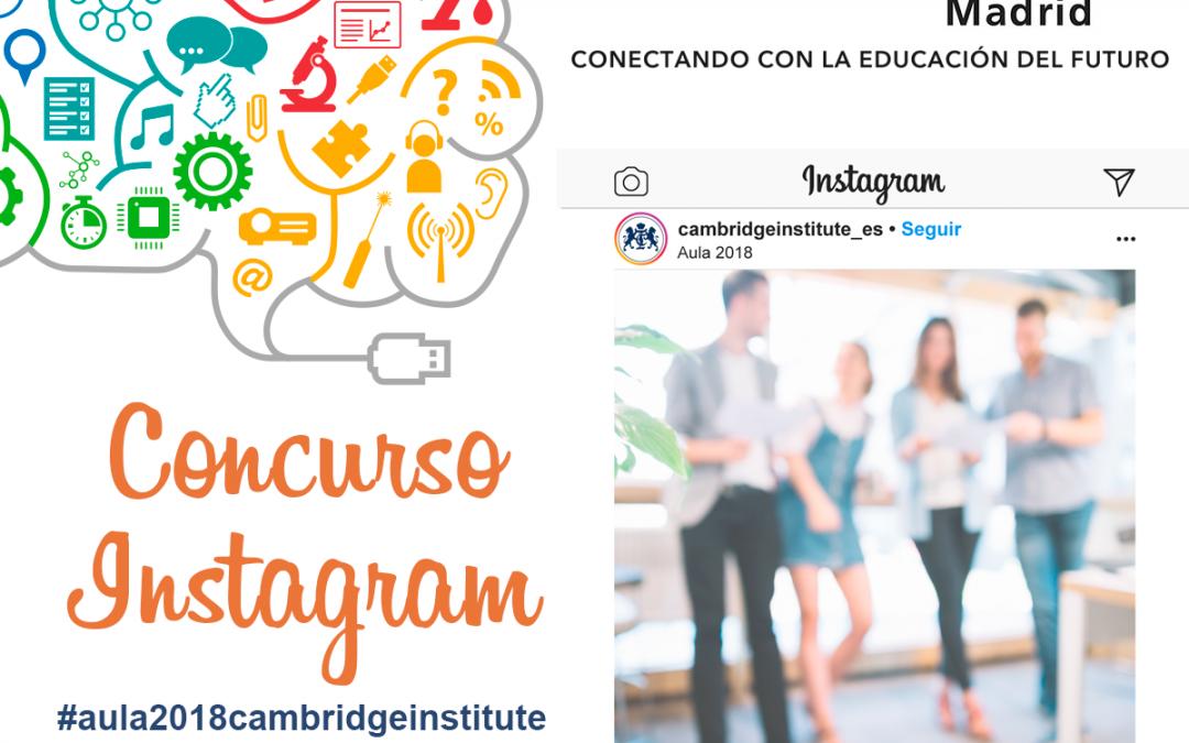 Concurso AULA 2018 en Instagram
