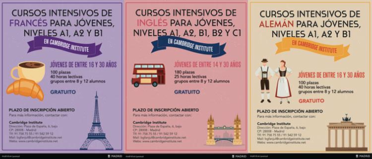 Cambrige Institute impartirá los cursos de verano para jóvenes del Ayuntamiento de Madrid